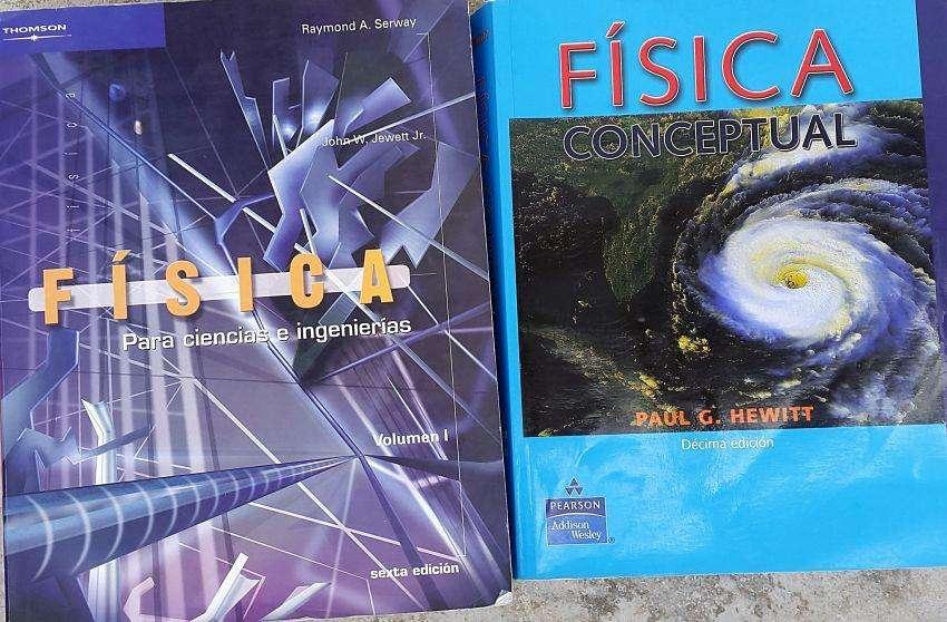 2 LIBROS DE FISICA EN PERFECTAS CONDICIONES A 15 C/U.