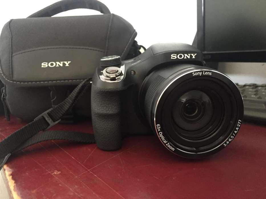 Cámara <strong>digital</strong> Sony Dsc H400/b 20 Mp Zoom 63x Lcd