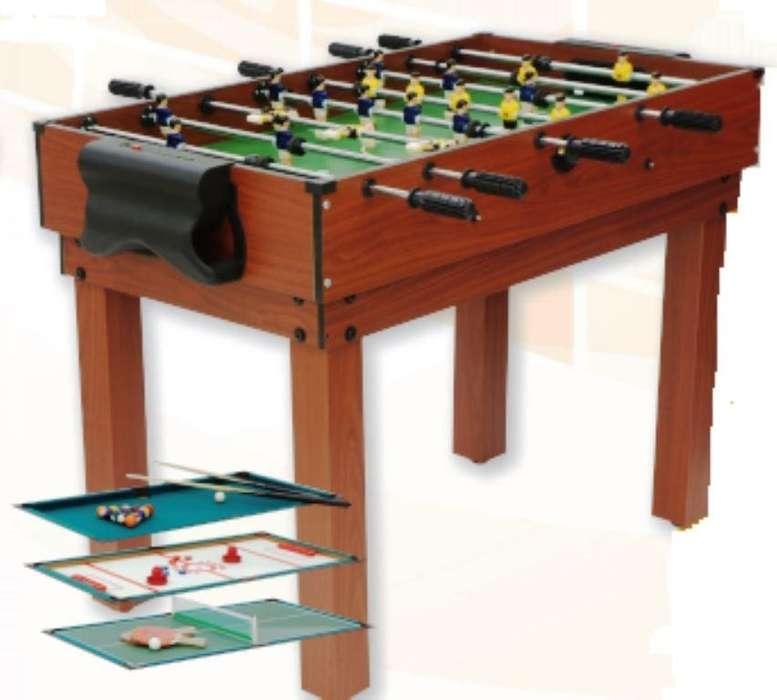 Multijuego 12 en 1 - Metegol - Pool - Tejo - Ping Pong entre otros