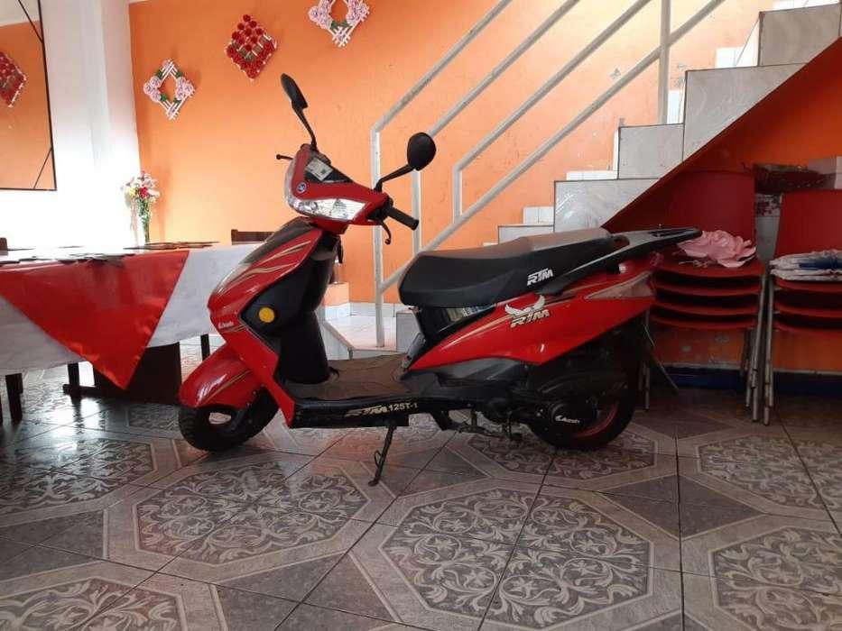 MOTO SCOOTER MARCA ALESIN MODELO RTM125T-1 COLOR ROJO 124CC - 1388KM RECORRIDO
