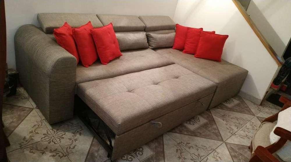 Sala en L Derecho Sofa Cama Super