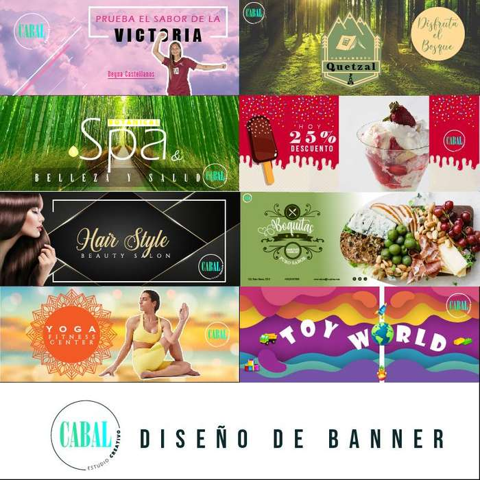 Banners para diferentes redes sociales