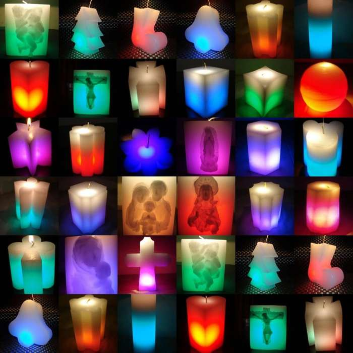 <strong>vela</strong>s Led y Los 7 Colores Mágicos