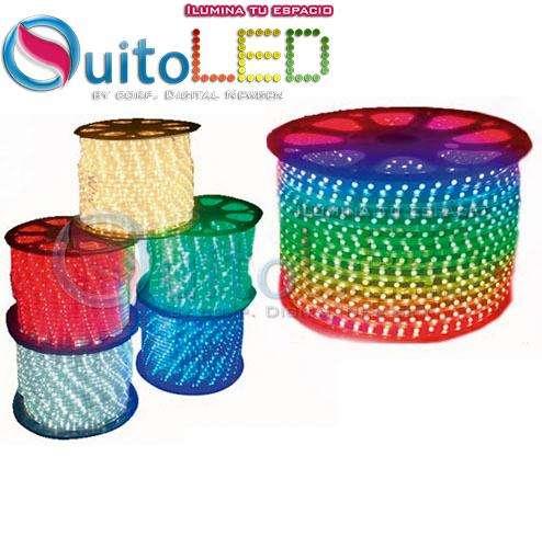 Cinta Manguera Led Un Color o RGB Para 110 Rollo 5050 Ip67 Ideal para Decoración en Gypsum Quitole