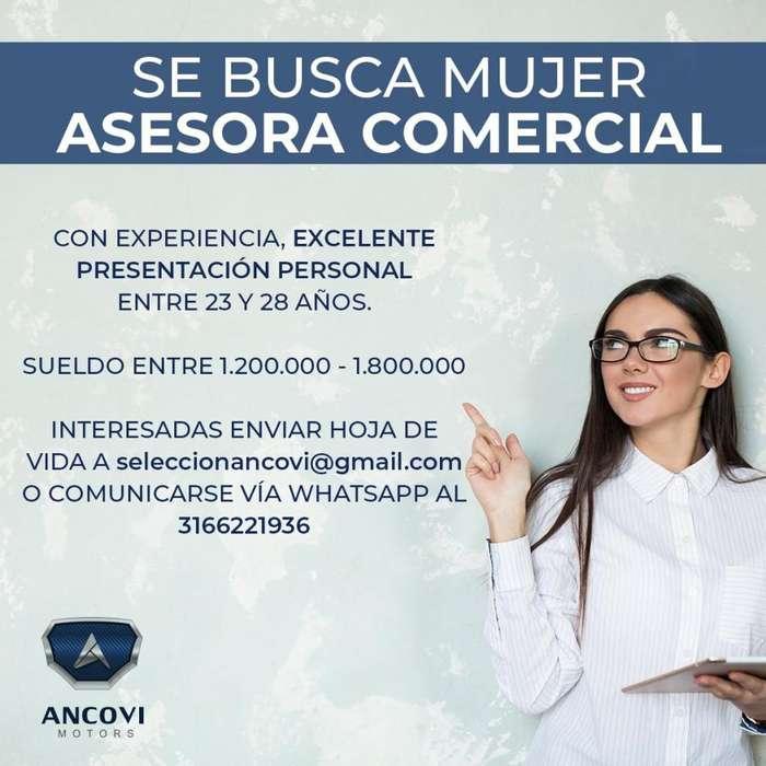 ASESORA COMERCIAL CON EXPERIENCIA