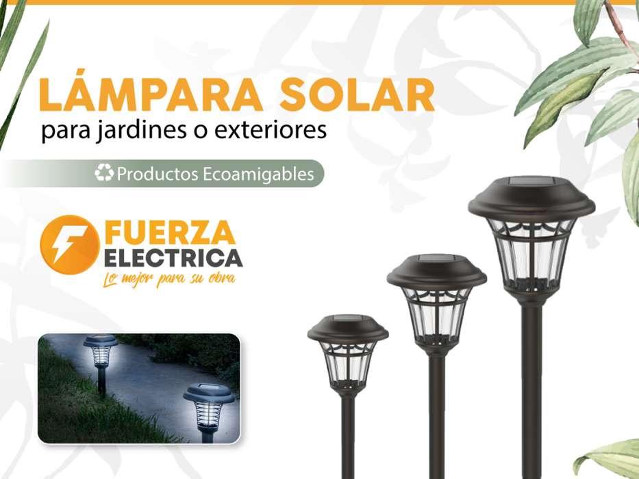 lampara solar jardin pack X2