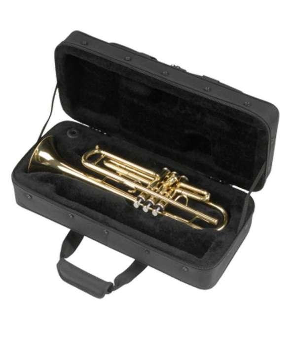 <strong>trompeta</strong> Gold Lacquer Finish Htp 100 Con Estuche Boquilla Nuevas