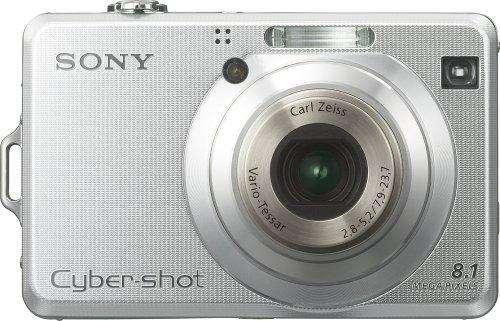 Cámara digital Sony Cybershot DSCW100 de 8.1MP con zoom óptico de 3x