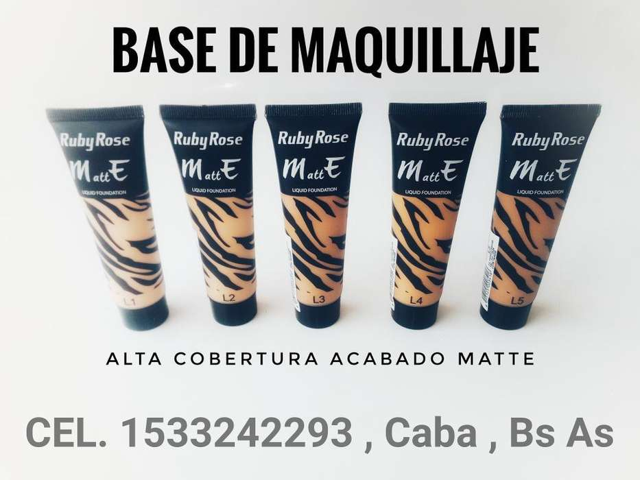 Bases de <strong>maquillaje</strong> Ruby Rose Matte
