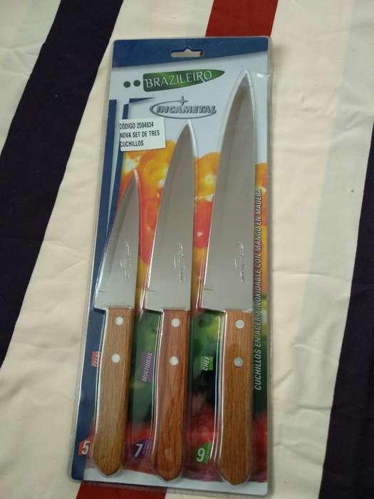 Set Cuchillos X 3 Incametal
