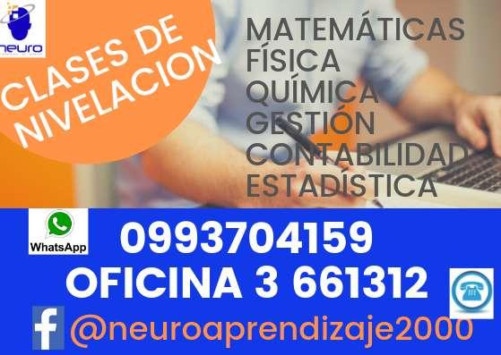CLASES DE MATEMÁTICAS CLASES DE NIVELACIÓNCENTRO DE APRENDIZAJE NEURO