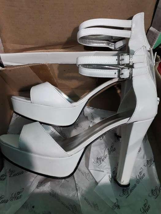 Sapatos Taco Alto Cuero Numero 39