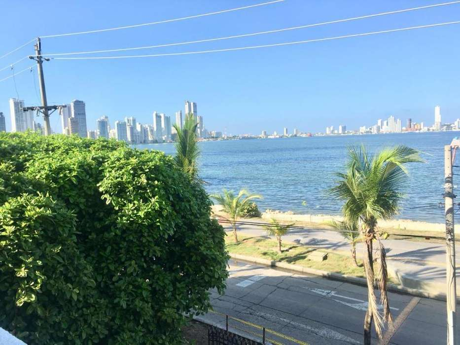 Arriendo apartamento, vista frente a la Bahía de Cartagena!