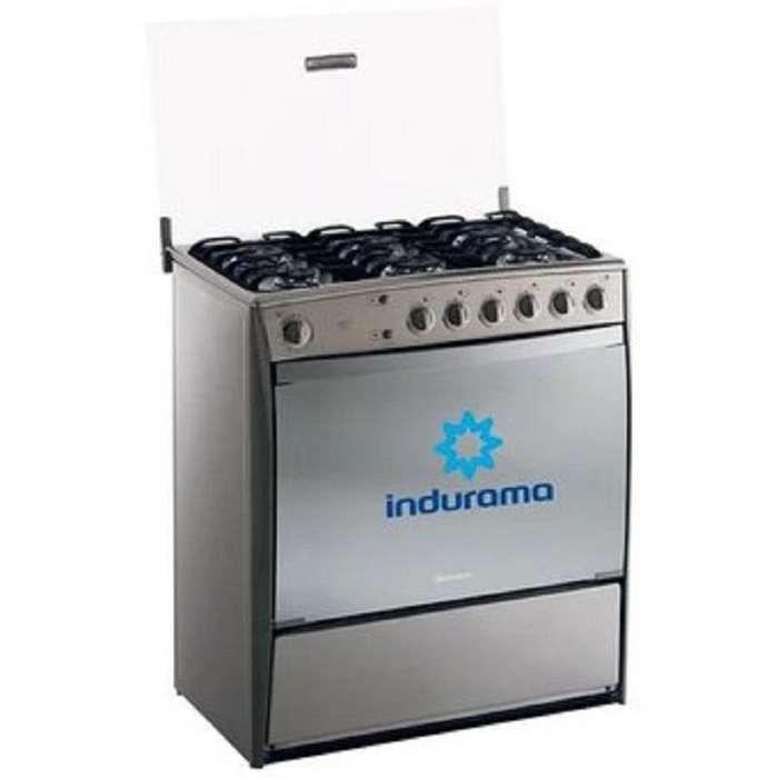 NUEVO Indurama - Cocina Parma Quarzo 6 Quemadores - Gris