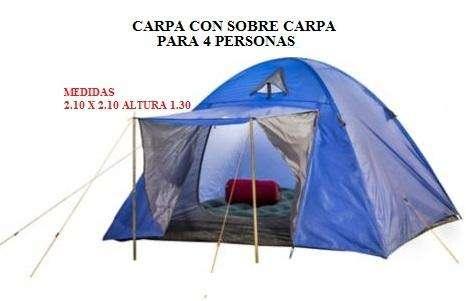 Carpas para Camping con sobre Carpa