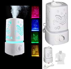 Difusor Lámpara Aroma 1.8 Lt Decorativo Colores Humidificador, Nuevos, Originales, Garantizados