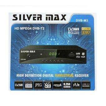 DECODIFICADOR TDT SILVER MAX TELEVISION GRATIS CONEXION USB, HDMI Y RCA