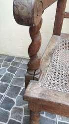 Hp Antiguo Sillón Silla Butaca Torneado