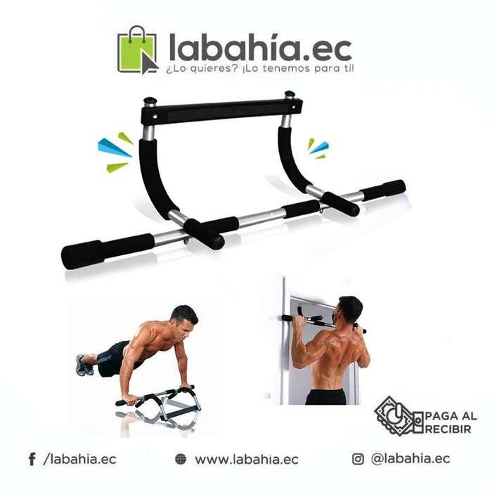 Iron Gym Barra De Puerta Sin Anclaje Ejercitador Para Casa