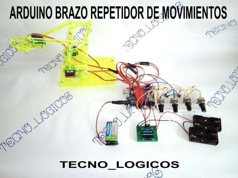 Arduino Brazo Otros Hidraulico Fisica