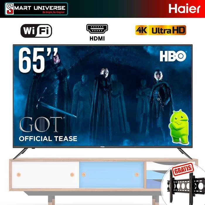 Televisor Led Haier 65 Pulgadas 4k UHD Smart TV Android WIFI