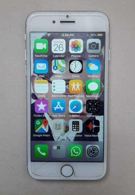 iPhone7 128GB Silver USADO, en PERFECTO estado case protector protector pantalla vidrio templado