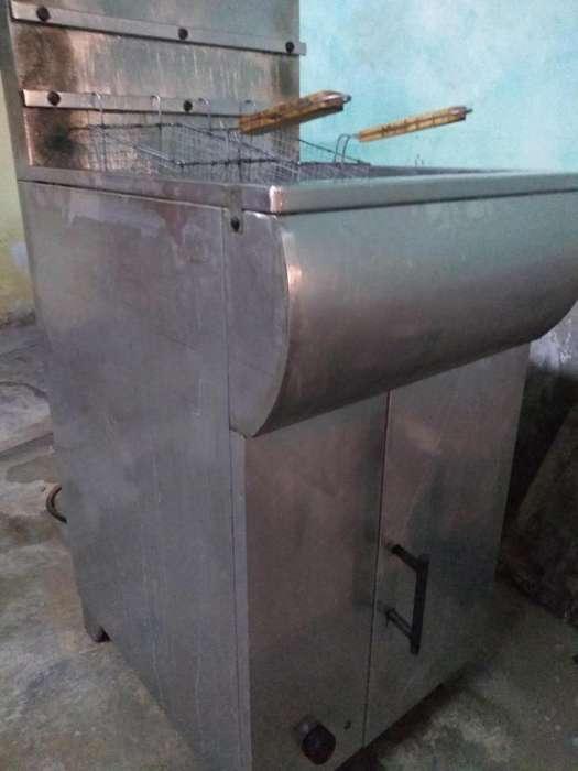 Freidora de 20 litros plancha