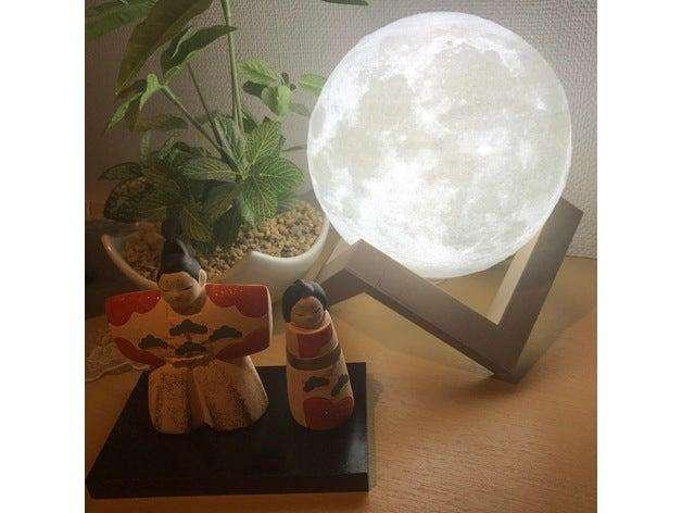 Luna iluminada
