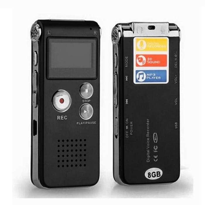 Lote de 3 Grabadoras de voz 8gb Nuevas Dictáfono Reproducción MP3 Música Memoria USB Mic