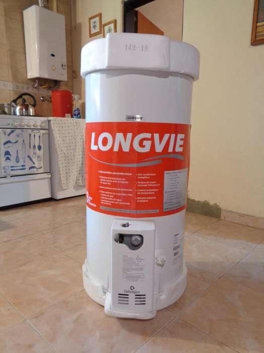 Vendo termotanque a gas Longvie, 75 litros, de pie, NUEVO, AUN SIN ESTRENAR.