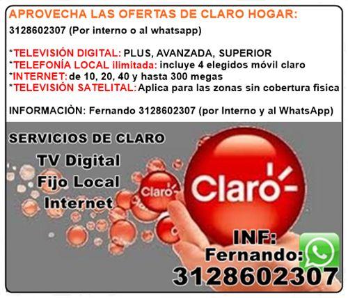 le gustaría afiliarse al servicio de CLARO HOGAR?