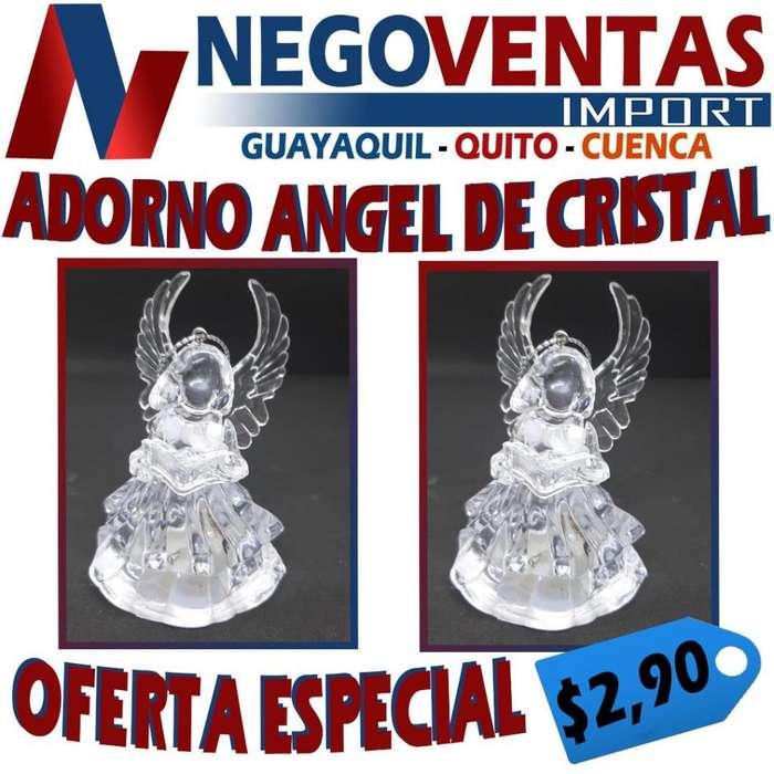 ADORNO DE ANGEL DE CRISTAL DECORATIVO