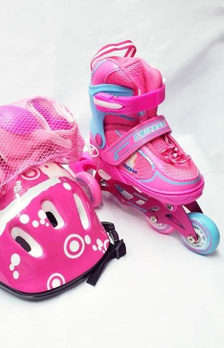 SUPER KIT DE PATINES RECREATIVOS CON LLANTAS EN GOMA DE LUCES