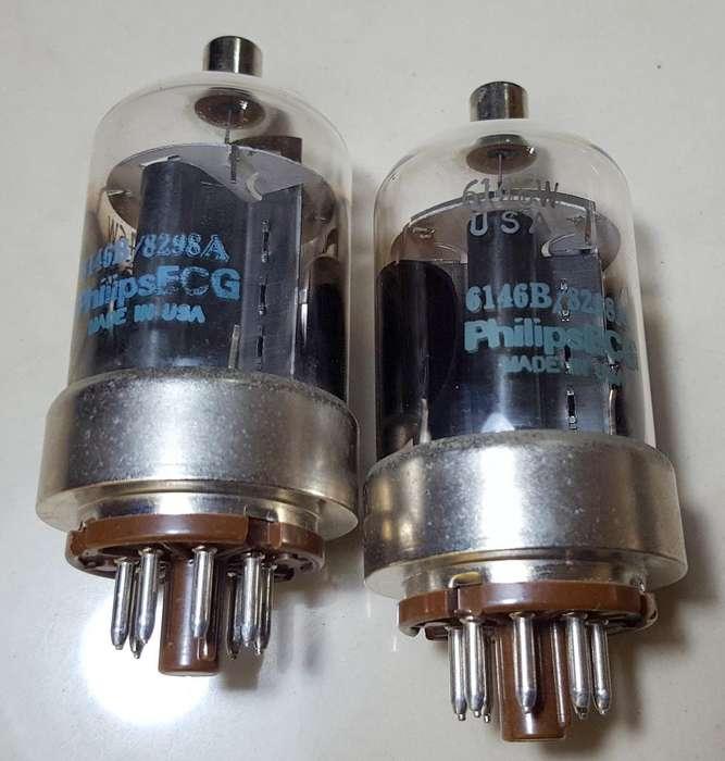 Yaesu Ft901dm Philips Ecg 6146w Vintage Pair Of Tubes 85
