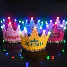 Corona Fiesta Cumpleaños LED Led