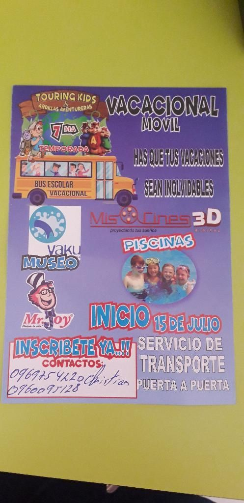 Vacacional Movil info:0969754220