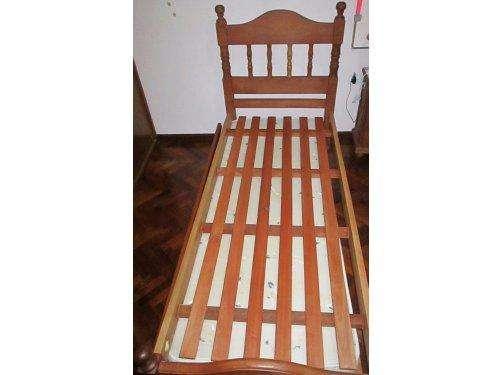 Vendo cama ALGARROBO con catre marinera