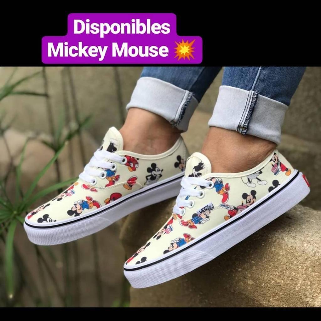 zapatillas vans mujer mickey mouse