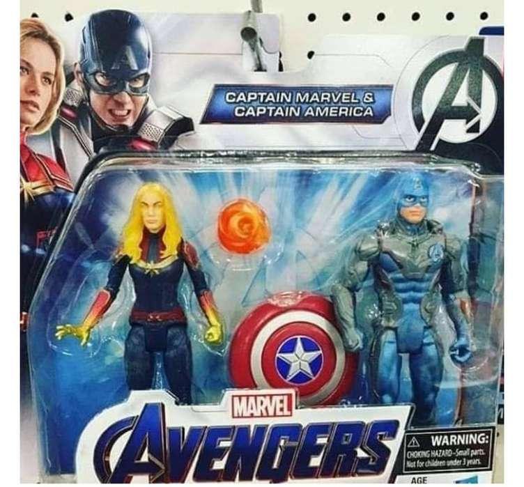 Capitan America Capitana Marvel Avengers