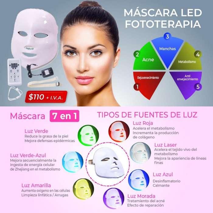 MASCARA LED FOTOTEPARIA /MASCARA ANTIACNE / ANTIEDAD / MASCARA DE REJUVENECIMIENTO