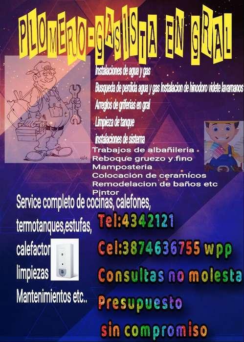 Plomeria Y Albañileria en Gral