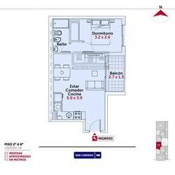 San Lorenzo y Pte. Roca - Dpto de 1 Dormitorio. Posibilidad cochera. Vende Uno Propiedades