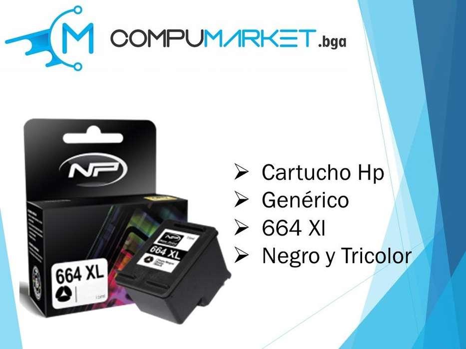 Cartucho de tinta HP 664 Xl Generica Negro y tricolor nuevo y facturado.
