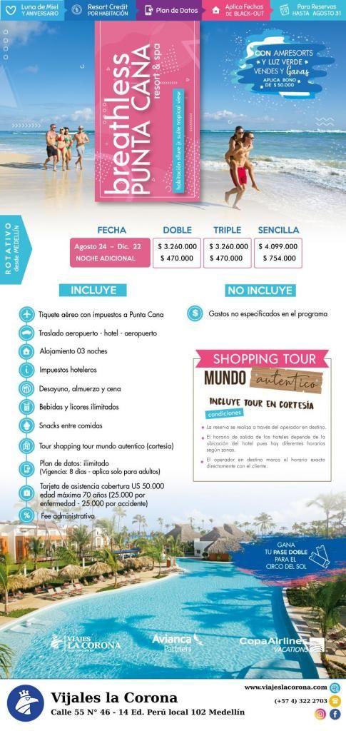 Viaje como un Rey a Punta Cana H. BREATHLESS PUNTA CANA  con Viajes la Corona
