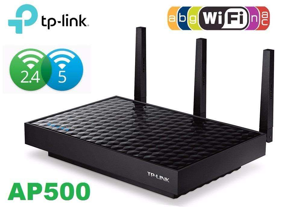 ACCESS POINT WIRELESS AC1900 TPLINK AP500 DUAL BAND TRES ANTENAS 1900MBPS PoE
