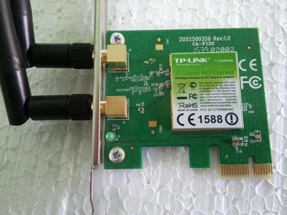 10 placas de red para pc cpu computadora tp link tl wn881nd