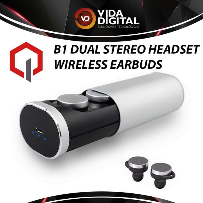 Auricular Quasad B1 Dual Stereo Headset Wireless Earbuds