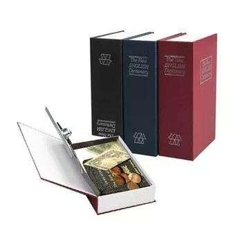 Caja Fuerte Diccionario Libro Biblioteca Juego De Llaves