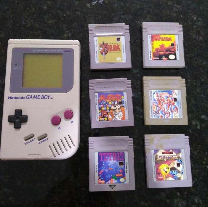 Nintendo Game Boy 1989 con 6 Juegos