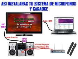 Microfonos Inalambricos Profesionales y Karaoke Pack 5000 canciones Sonido Profesional 8 Discos
